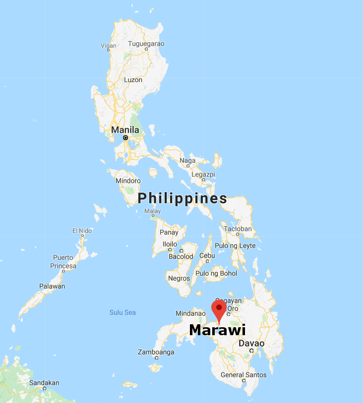 Philippines Map with city of Marawi - The Foreign Analyst