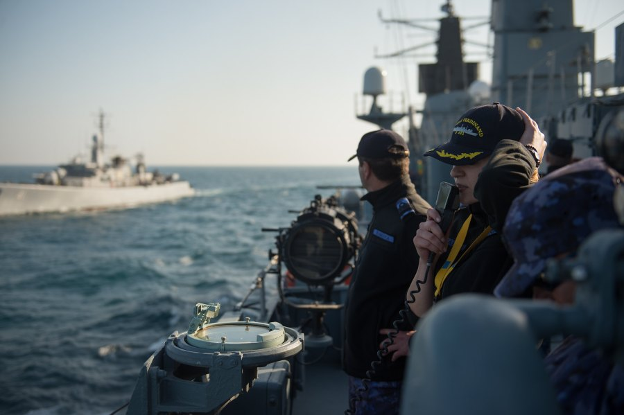 The Foreign Analyst - Romanian frigate during NATO SEA SHIELD exercise on the Black Sea in 2018