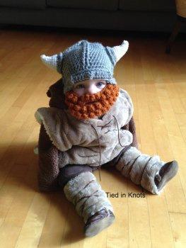 Baby Viking Hat with Beard by Tied in Knots