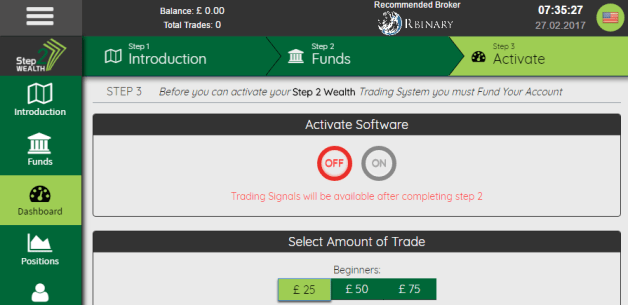 Step2Wealth Trading App Bianry Options