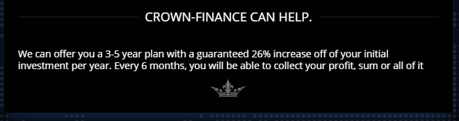 Crown Finance Investment Returns