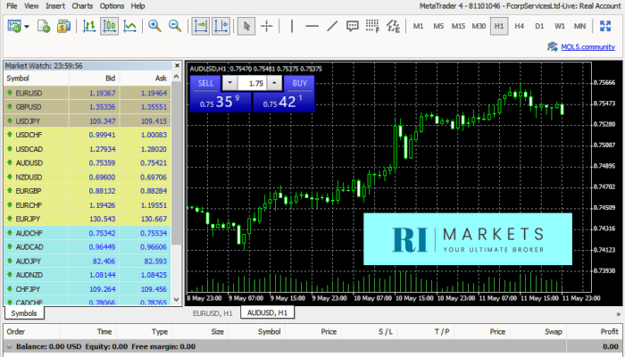 RIMarkets Broker Forex Trading Platform