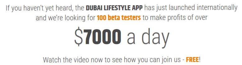 Dubai Lifestyle App Trading Scam