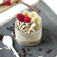 Espresso Overnight Oats with Almond Butter