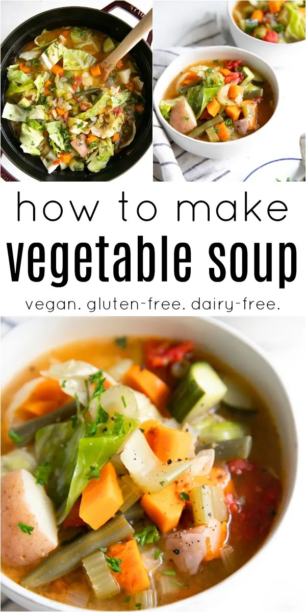 Homemade Vegetable Soup Recipe #soup #lowcalorie #lowcarb #vegetarian #healthy #easyrecipe #dinner #vegansoup #vegetablesoup