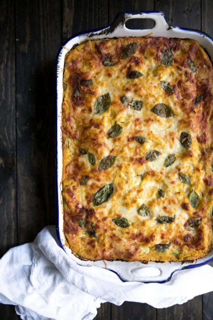 Butternut Squash, Zucchini, and Spinach Lasagna