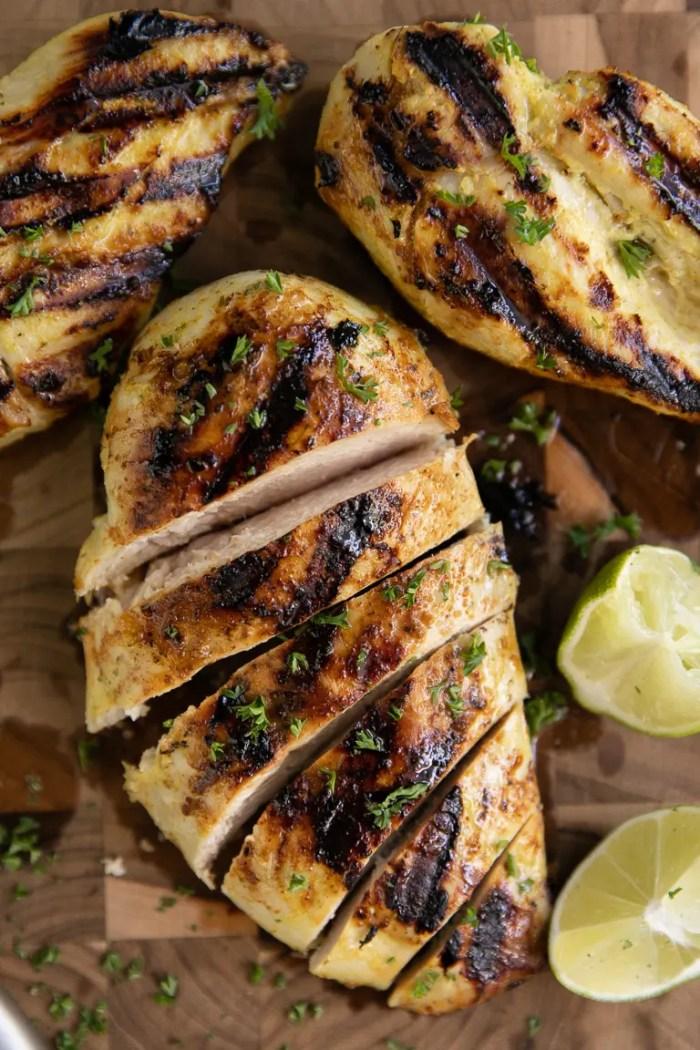 grilled citrus and garlic chicken