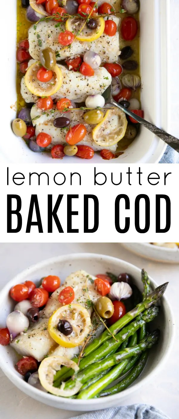 Easy Lemon Baked Cod (How to Bake Cod) #cod #codrecipe #bakedcod #lowcarb #30minutedinner #fishrecipe