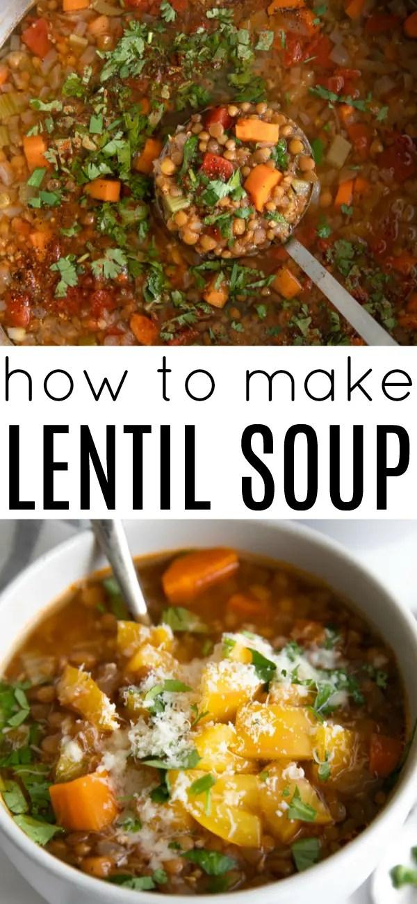 Easy Lentil Soup Recipe (How to Make Lentil Soup) #lentils #soup #souprecipe #vegetariansouprecipe #lentilsoup #legumes #lentilsouprecipeolive