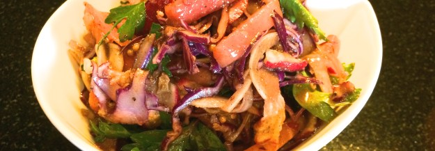 Watermelon, Radish and Cabbage Salad with Balsamic Sage Vinaigrette
