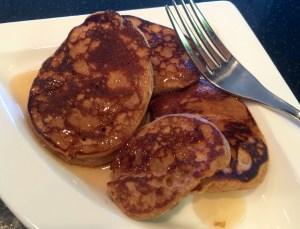 Malted Whole Wheat Cinnamon Pancakes