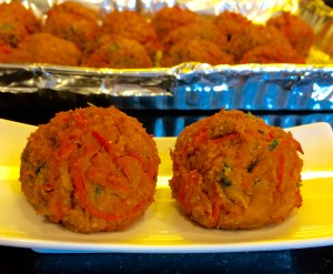 Falafel Inspired Paprika Carrot & Chickpea Vegetarian Baked Patties