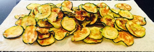 Forking Easy Microwave Zucchini Chips