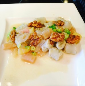 Blue Cheese Gnocchi with Heirloom Beets, Apple and Walnuts