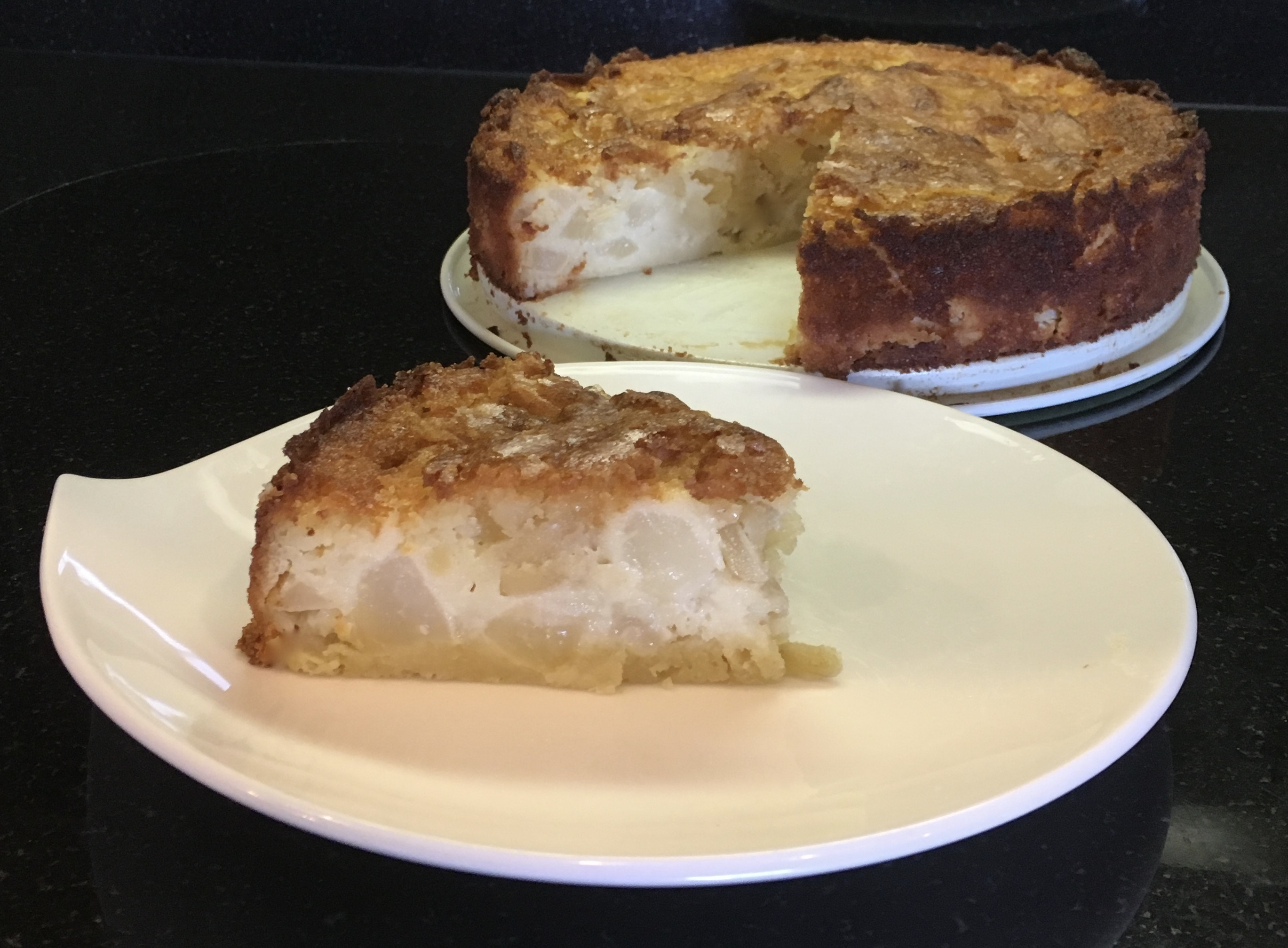 Forking Delicious Pear Almond Cake Recipe | TheForkingTruth