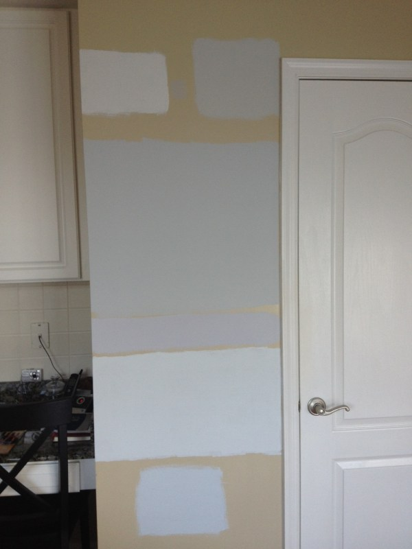 Grey Wall Paint Samples