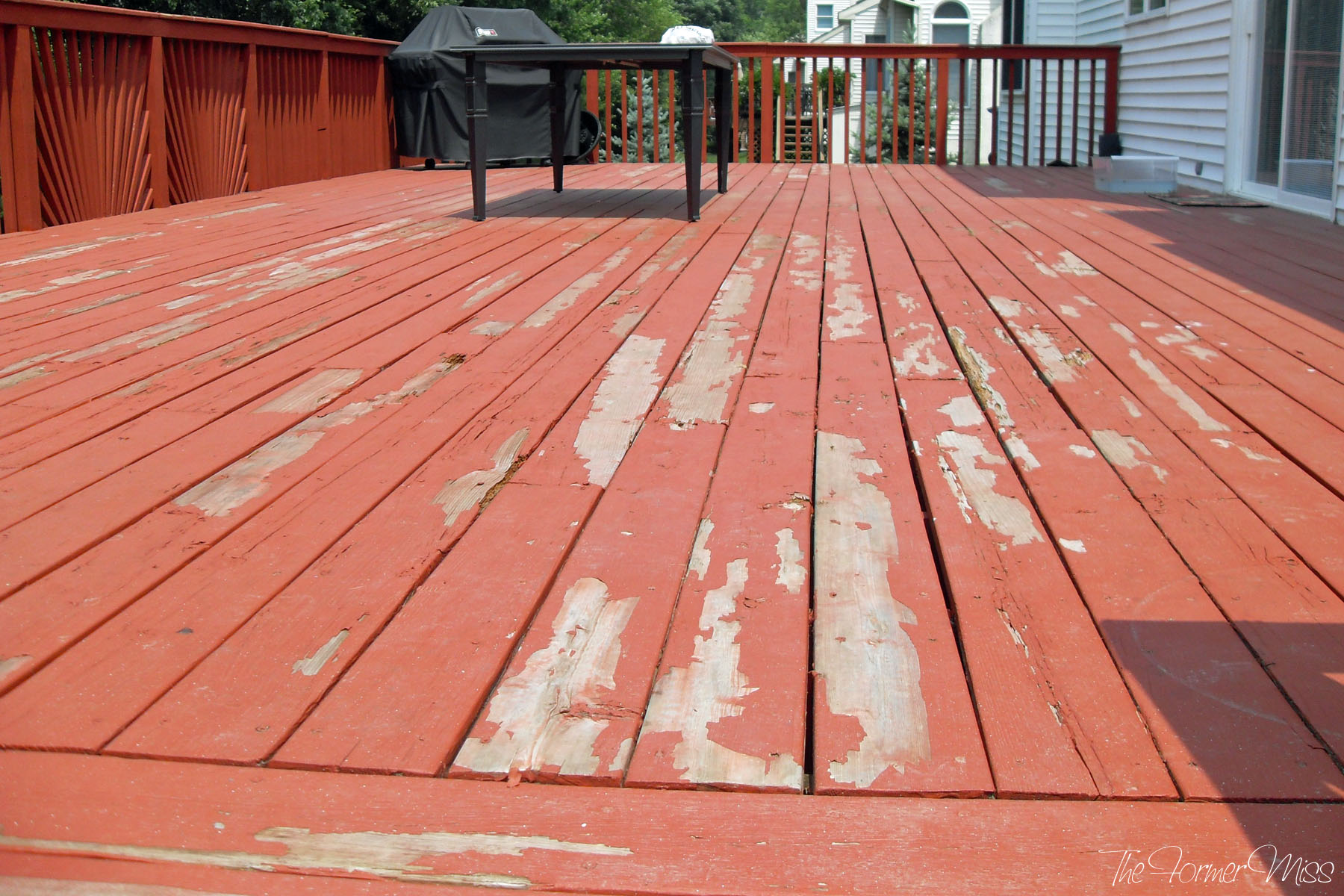 A Deck Makeover part 2  The Former Miss