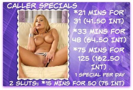 live phone sex specials