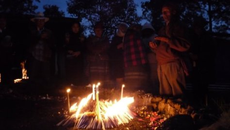 A dawn ceremony at the Nima Sabal altar in Momostenango on Wajxakib B'atz (11th July 2011)