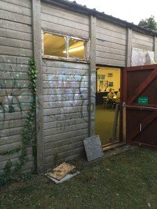 Vandalised windows