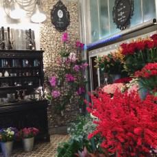 Flower store ... and secret hair salon.