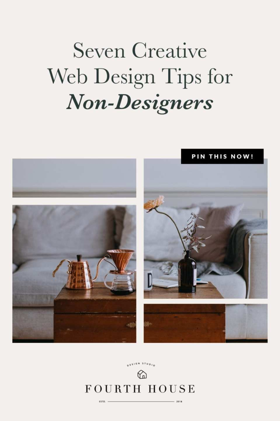 Creative web design isn't always about colors and typography - finding strategic ways to use icons and images to show instead of tell is a powerful tool. Open this post for 7 easy ways anyone can boost their website's creativity without a fancy design degree (or wasting a bunch of hours). #websitedesign #websiteredesign #showit #showitdesign #websiteinspiration #diywebdesign