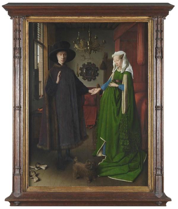 Jan Van Eyck Arnolfini Marriage Frame