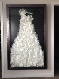 Fine Custom Framing for your Wedding Dress