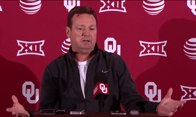 Oklahoma coach Bob Stoops on Monday ponders Les Miles' fate at LSU and the expectations that come  with winning national championships.
