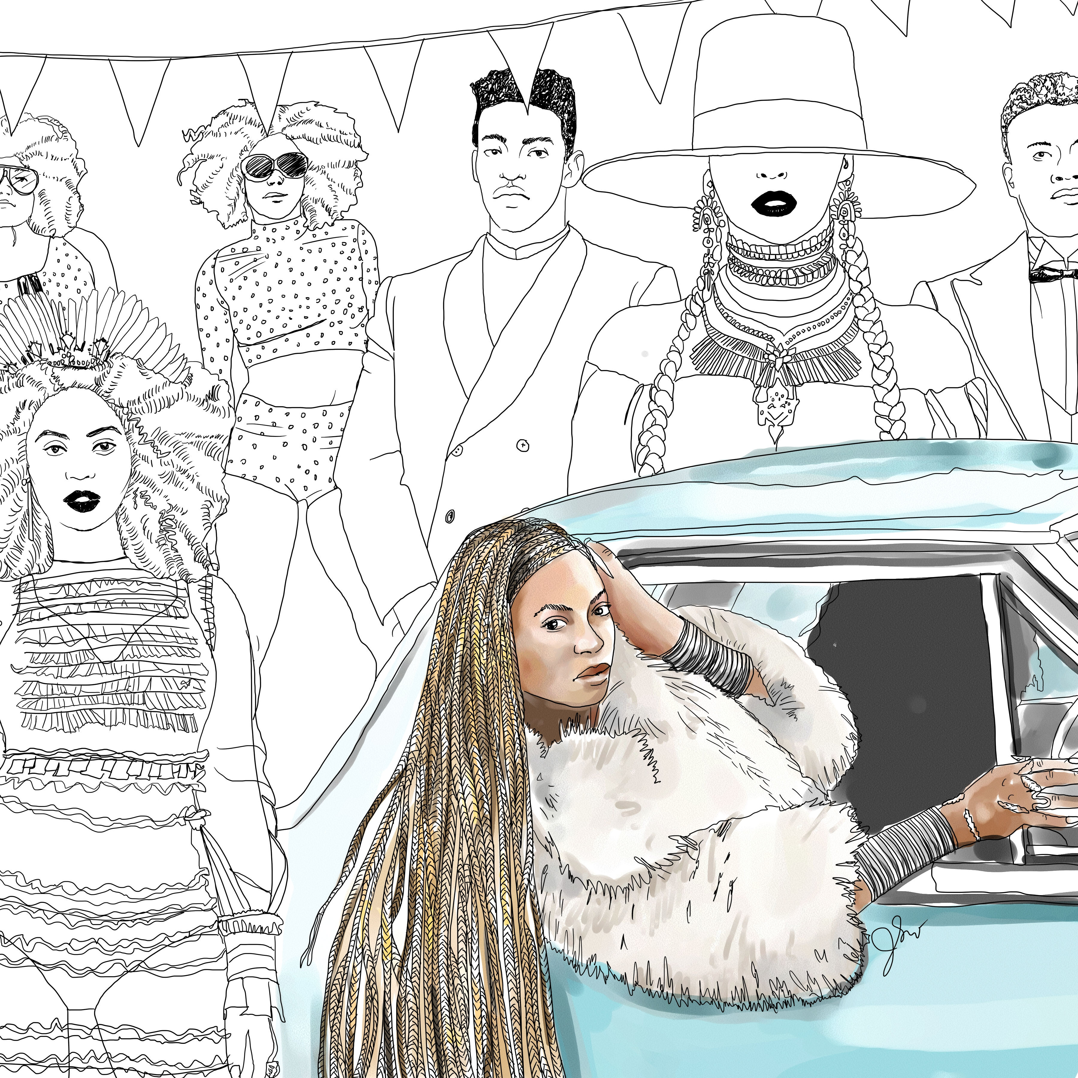 beyonce coloring book thefrancofly rh thefrancofly com Beyonce Lemonade Booklet Beyonce Lemonade Diet
