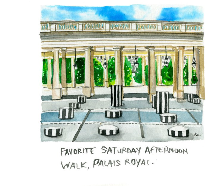2. thefrancofly Paris guide_Palais Royale Paris illustration