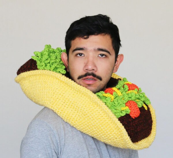 weird funny crochet-food-hat