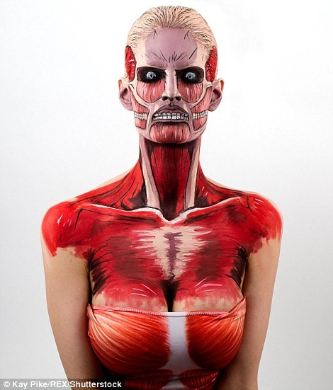 weird strange body painting