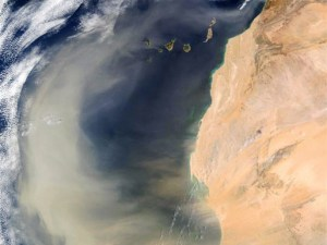 dust storm from space