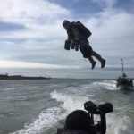 Real-life Ironman demonstrates jet pack suit to Dutch military