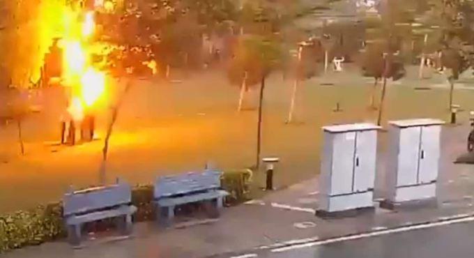 Freaky video: 4 Men Struck by Lightning