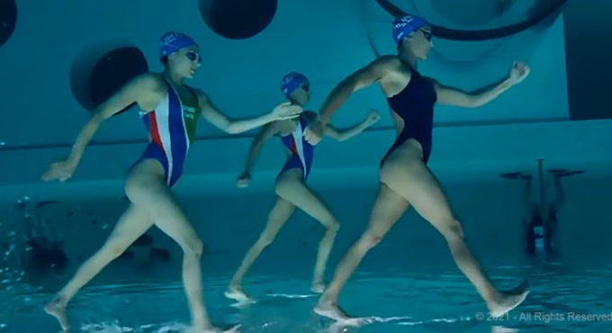 freaky video synchronised swimming
