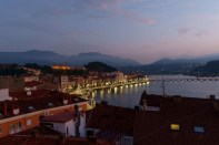 Avond in Ribadesella. Evening n Ribadesella from our hotel panorama room