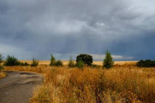 The rain and storms passing over Zamora as we continued our drive to Portugal.