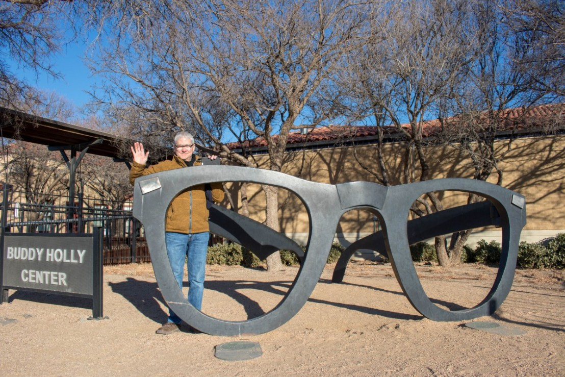 Buddy Holly Glasses Sculpture