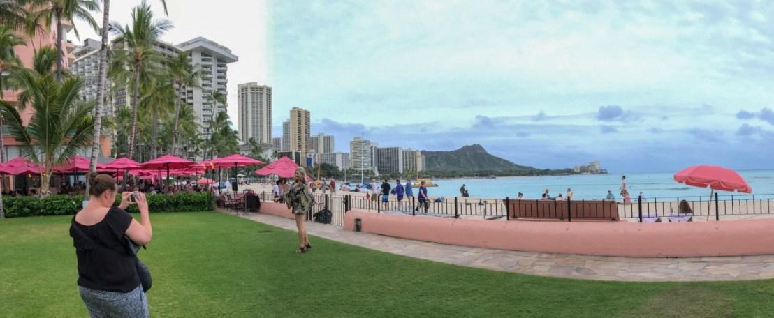 Diamond Head from Royal Hawaiian Hotel's Back Lawn