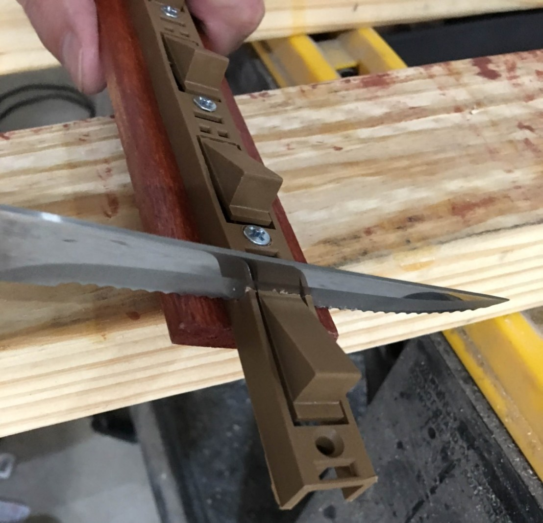 Cutting Shelf Hanger Using Kitchen Knife