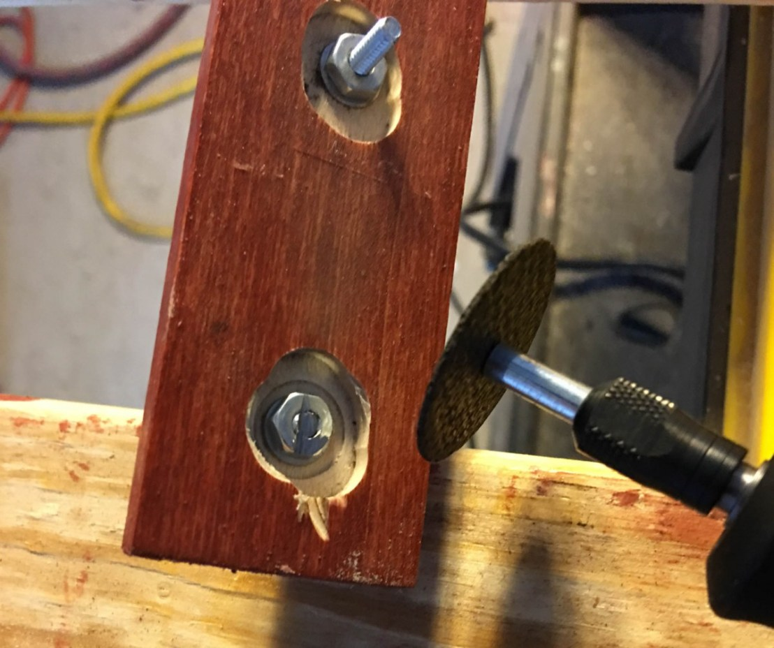 Grinding Off Protruding Screws