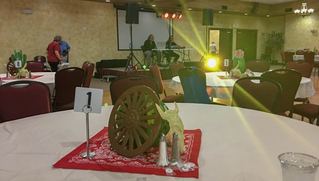DJ Setting Up Before The Catered Dinner
