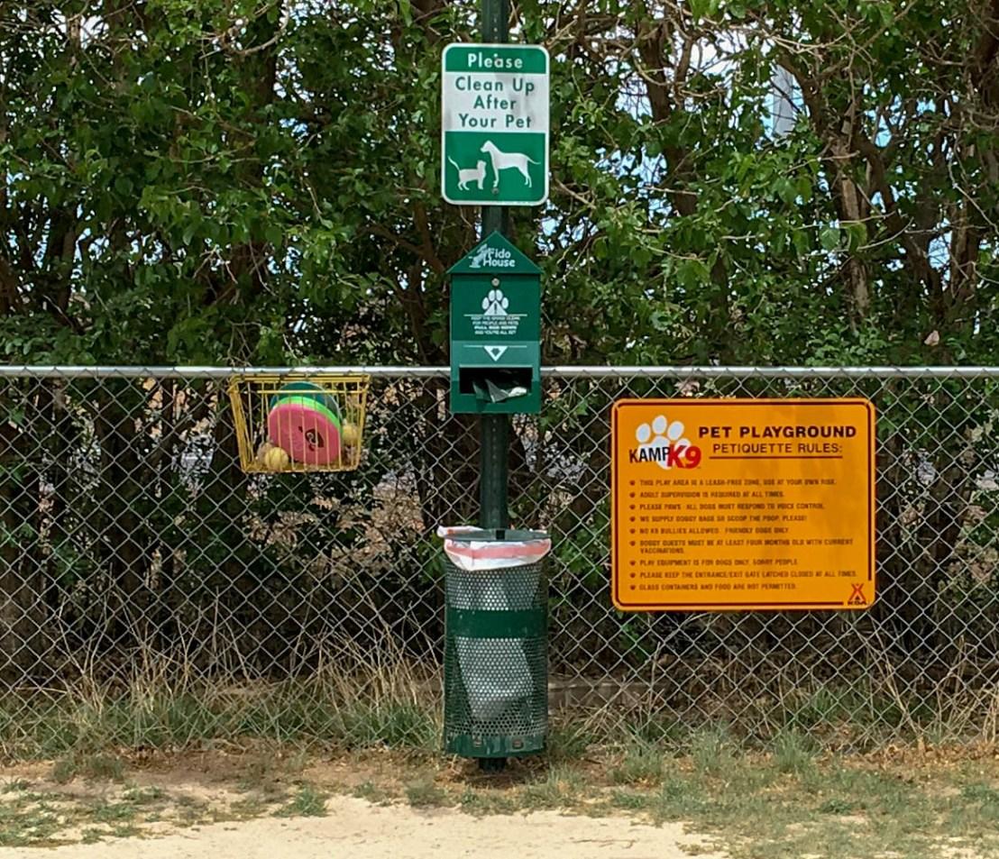 KOA Dog Park Signage