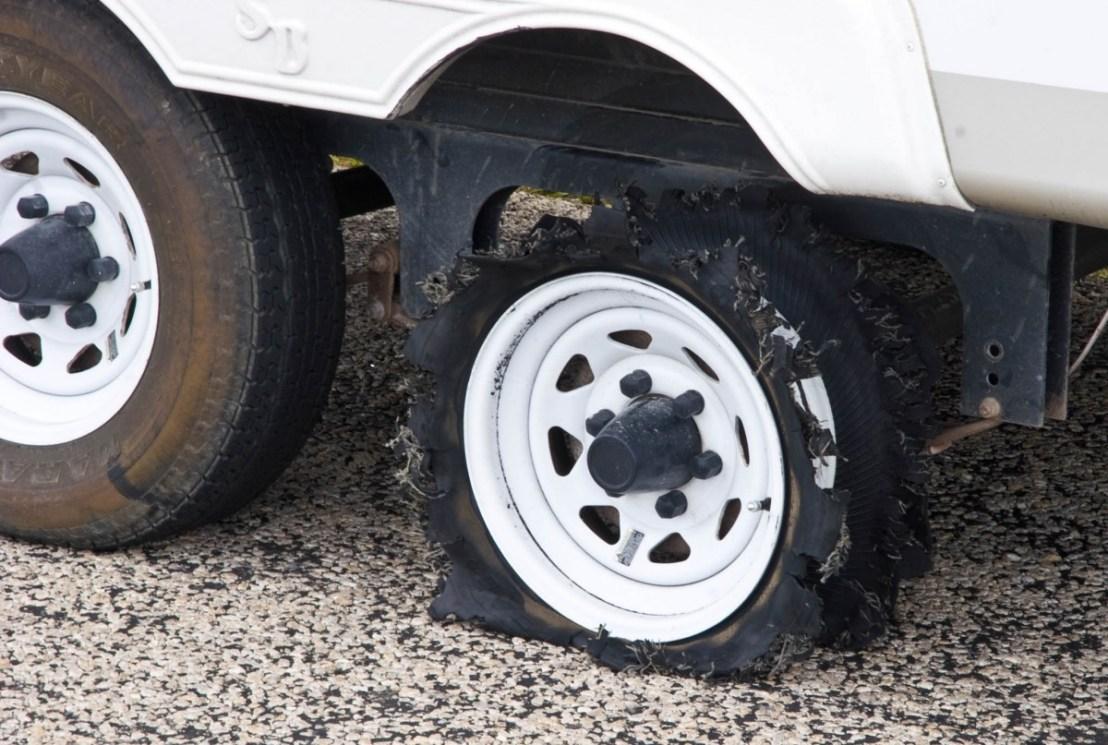 Tire Failure on Fifth-Wheel