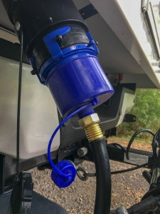 RV Waste Water Bayonet Fitting to Garden Hose Adapter