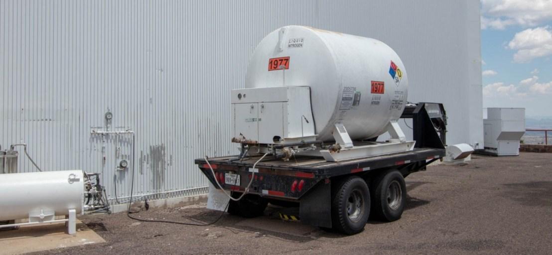 Harlan J Smith Telescope Liquid Nitrogen Tank