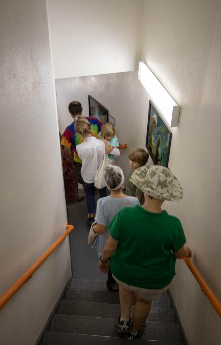 Seventy Plus Narrow Steep Stairs at The Harlan J Smith Telescope