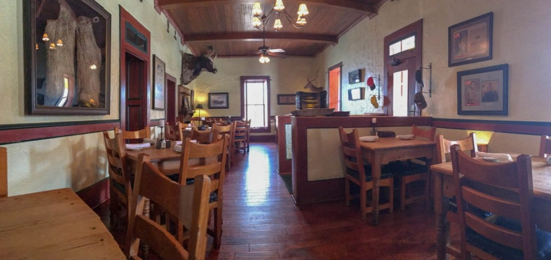 Inside Reata Restaurant, Alpine, Texas